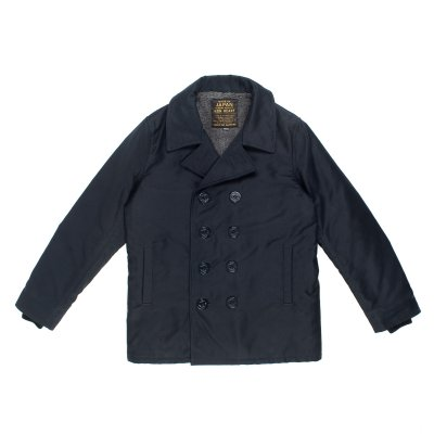 Whipcord Pea Coat - Navy