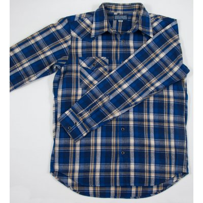 Heavy Herringbone Flannel Western Shirt