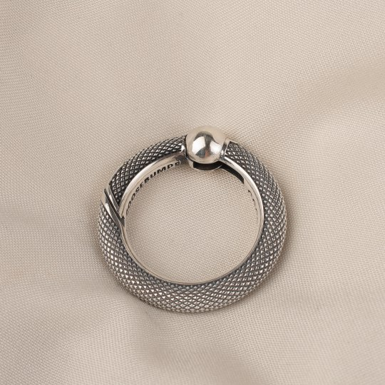 GOOD ART HLYWD Silver Spring Ring - Knurled