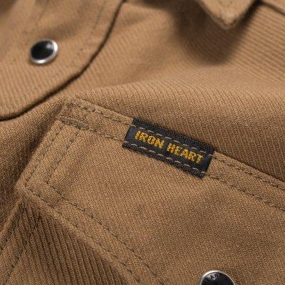 Military Serge Western Shirt - Mocha