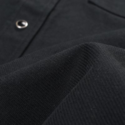Military Serge Western Shirt - Black