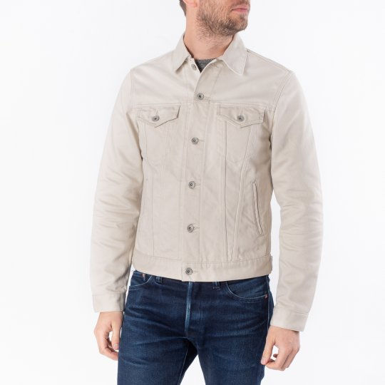 14oz Cotton Piqué Modified Type III Jacket - Ecru