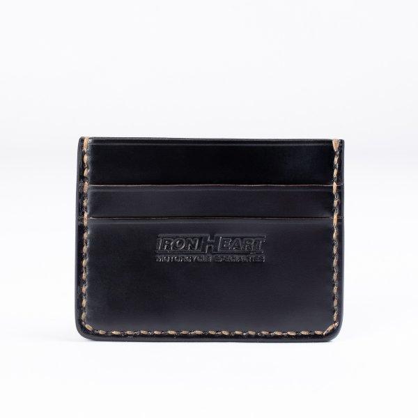 Shell Cordovan Card Holder - Black or Oxblood