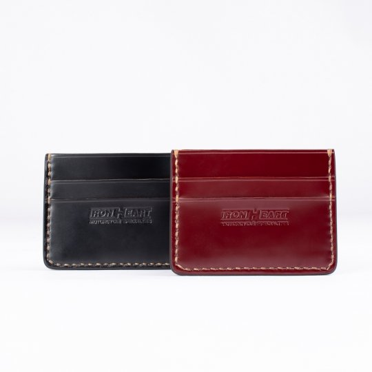 Shell Cordovan Card Holder - Black or Oxblood