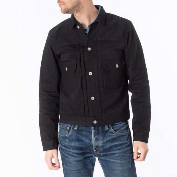 12oz Selvedge Chino Type II Jacket – Black