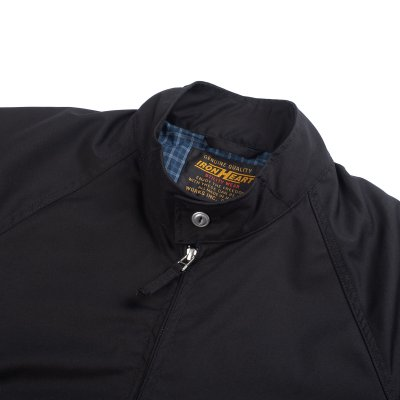 Waterproof Harrington-Style Windbreaker Jacket – Black