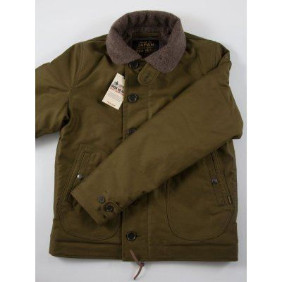 Alpaca Lined Whipcord N1 Deck Jacket - Olive, Navy & Black