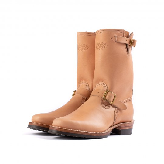 "Wesco® - 10"" Natural Leather Engineer Boot. The ""Mister Lou"""