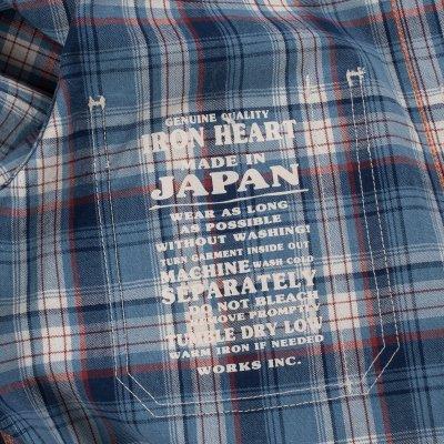 5.5oz Indigo Madras Check Work Shirt