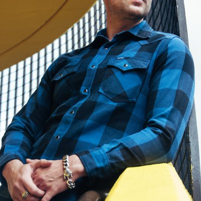 Check Western Shirt – Indigo/Dark Indigo