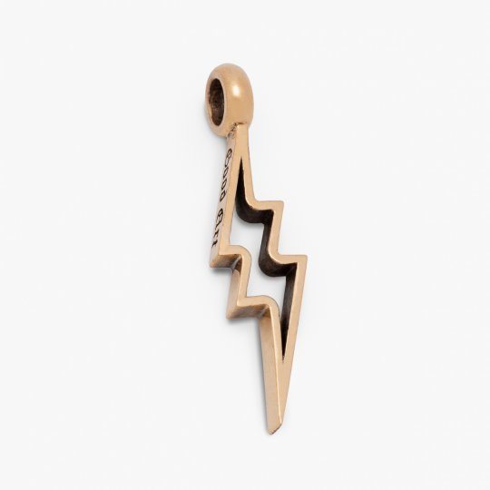 GOOD ART HLYWD Shazam! Pendant in 22k Gold on model 10 necklace (Cutout)