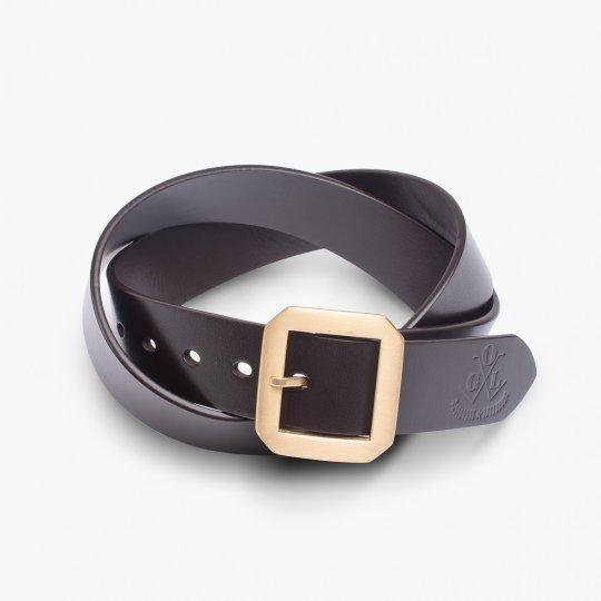 OGL Single Prong Garrison Buckle Leather Belt  - Brown