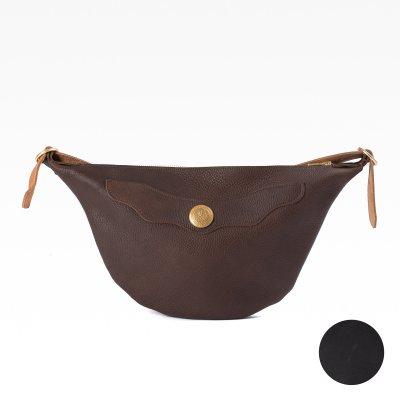 OGL 9981 Full Leather Hobo Sacoche - Black