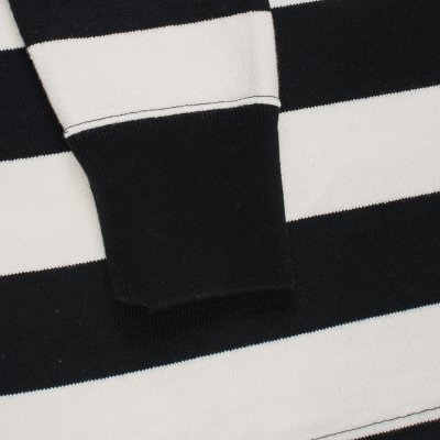 11oz Cotton Knit Long-Sleeved Sweater - Black/White