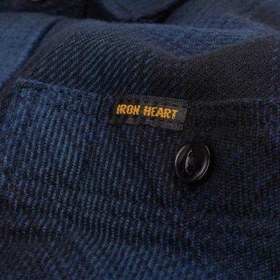 Ultra Heavy Flannel Ombré Check Work Shirt - Navy/Black