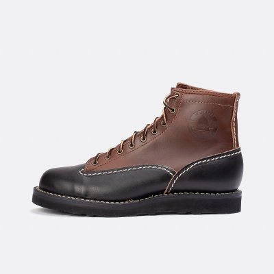"Iron Heart Int'l x Division Road x Wesco® - 7"" Black/Brown Horsehide Jobmaster® Boot"