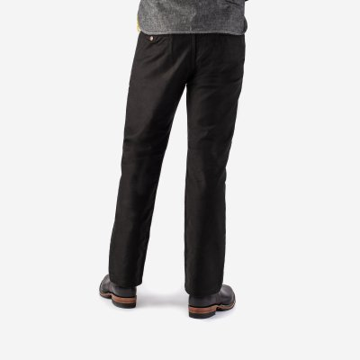 11oz Cotton Whipcord Work Pants - Superblack