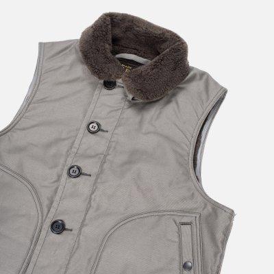Alpaca Lined Whipcord N1 Deck Vest - Grey