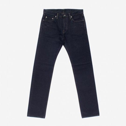 21oz Selvedge Denim Slim Tapered Cut Jeans - Indigo Overdyed Black