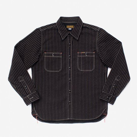 12oz Wabash Work Shirt - Black with Black Buttons