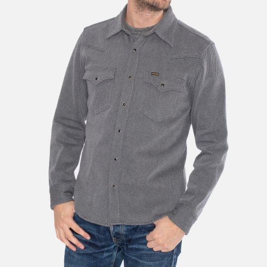 Top Dyed Heavy Kersey Western Shirt - Grey