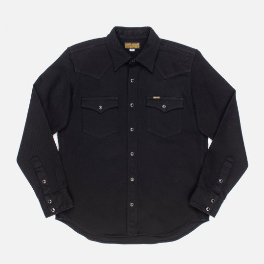 Heavy Kersey Western Shirt - Black