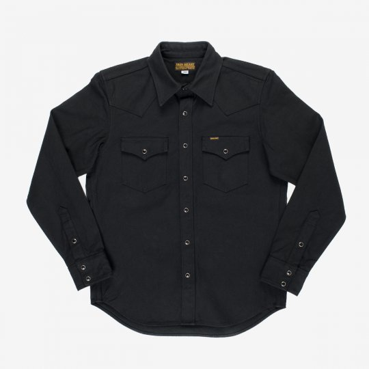 Military Serge Western Shirt - Black