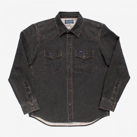 Pigment Printed Western Shirt - Black