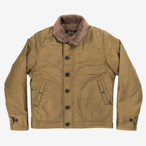 Alpaca Lined Whipcord N1 Deck Jacket - Khaki