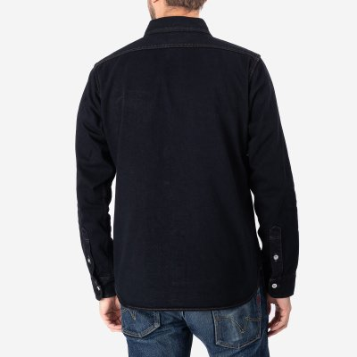 Indigo 12oz Selvedge Denim Work Shirt - Overdyed Indigo