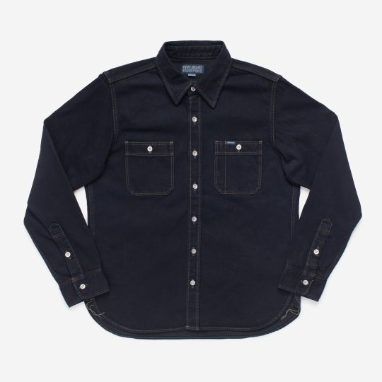 Indigo 12oz Selvedge Denim Work Shirt - Overdyed Indigo