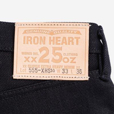 25oz Selvedge Denim Super Slim Jeans - Black/Black
