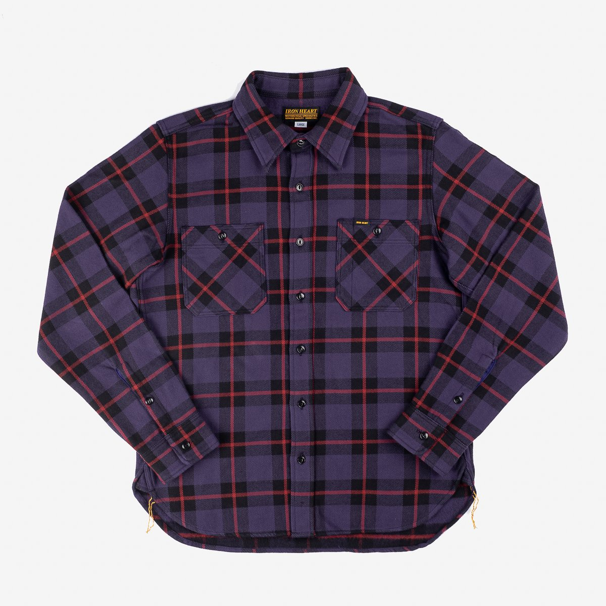IHSH-269-PPL | Iron Heart Japanese Ultra Heavy Flannel ...