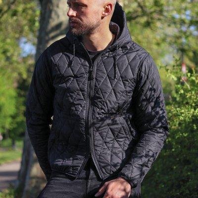 Lightweight Quilted Parka Jacket - Black
