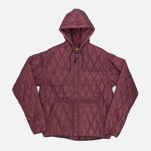 Lightweight Quilted Parka Jacket - Burgundy