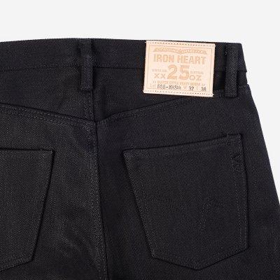 25oz Selvedge Denim Slim Straight Jeans - Black/Black