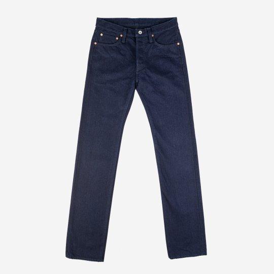 19oz Selvedge Denim Slim Straight Cut  Jeans - Indigo/Black