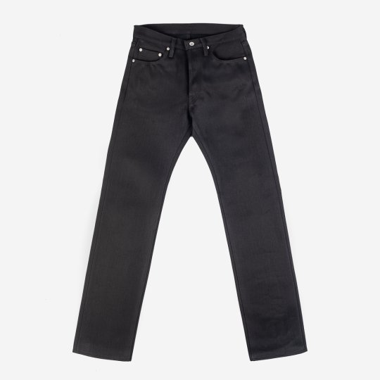 25oz Selvedge Denim Straight Cut Jeans - Black/Black