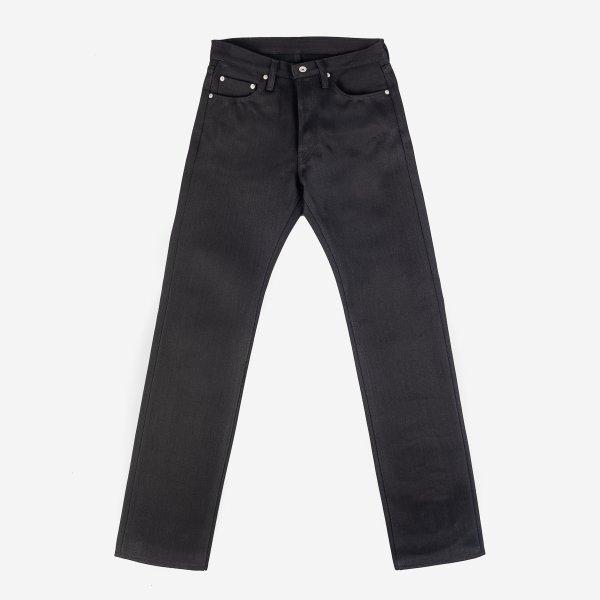 25oz Selvedge Denim Straight Cut Jeans - Black/Black