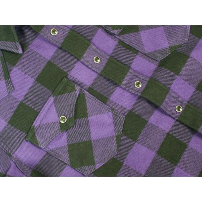 Ultra Heavy Buffalo Check Western - Purple/Black