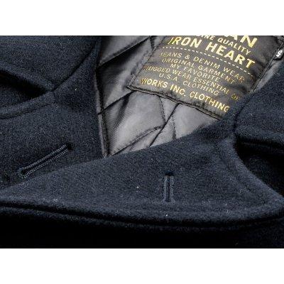 Navy Melton Wool Pea Coat