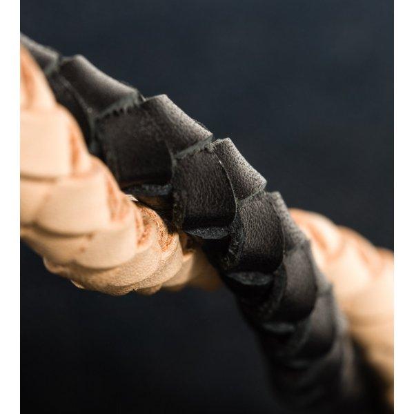 Steel Core Plaited Calf Wallet Leash